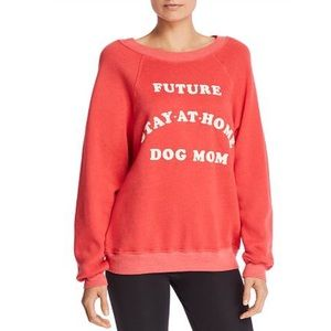NEW Wildfox Dog Mom Red Sweatshirt Pullover S